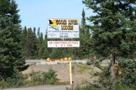 Campground sign in Goose Bay