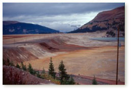 View of the Climax Tailings ponds