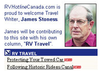 RV Rambling by James Stoness, www.rvhotlinecanada.com