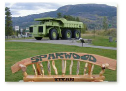 The Massive Titan Truck in Sparwood, British Columbia